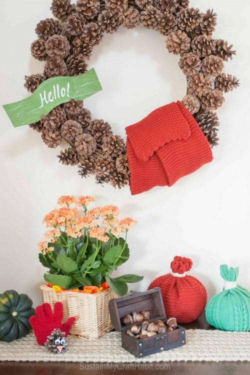 1 Minute DIY Bold Toque Pumpkin For Fall