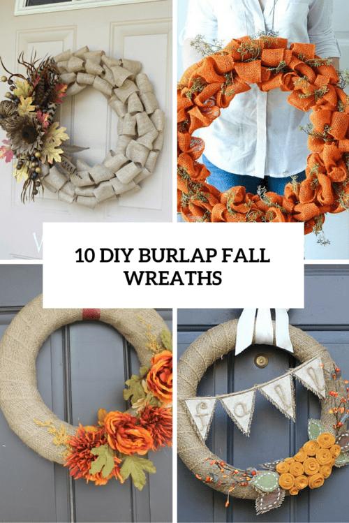 10 BURLAP FALL WREATHS COVER