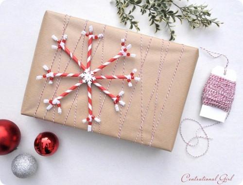 Snowflake Christmas Gift Wrap (via centsationalgirl)