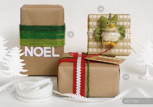 4 DIY Christmas Gift Wrap Ideas In Different Styles (via ellinee)