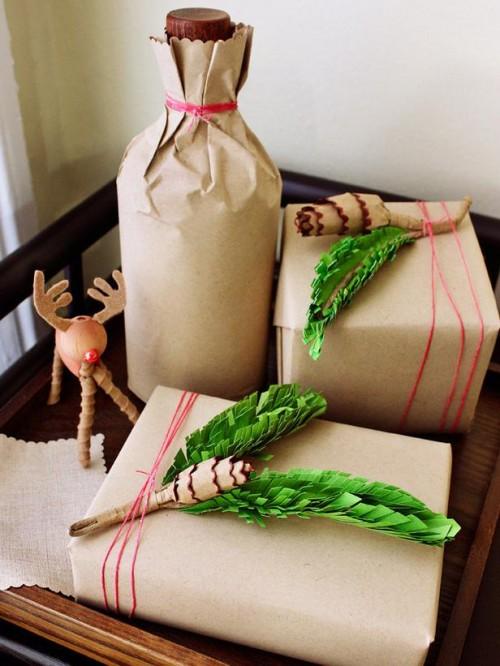 10 Creative Holiday Gift Wrap Ideas (via hgtv)