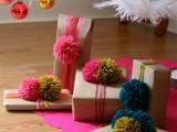 20 Yarn And Pom Pom Gift Wrap Ideas