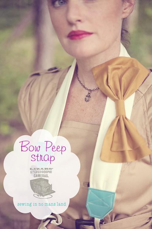 DIY Bow Peep Camera Strap