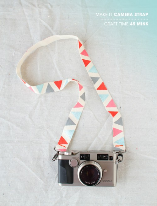 Pretty DIY Camera Strap (via designlovefest)