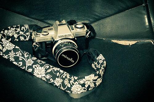 DIY BW Camera Strap Cover