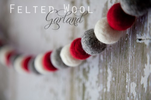 DIY Felted Wool Christmas Garland (via according-to-kelly)