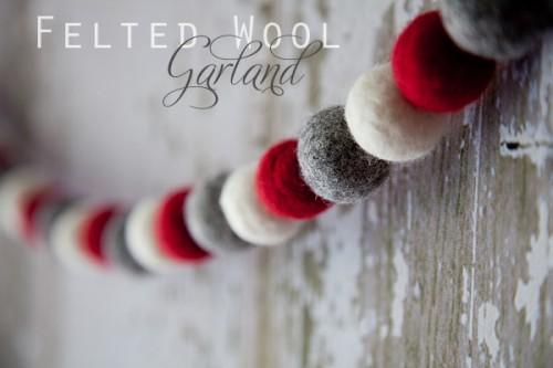 DIY Felted Wool Christmas Garland (via according-to-kelly)