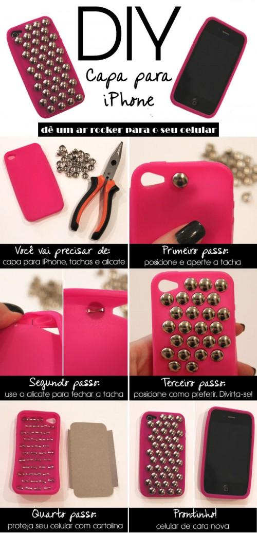 DIY Capa Para iPhone (via feirapop)