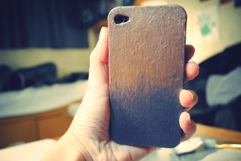 Picture of diy eyeshadow dust iphone case for How to make phone cases at home