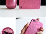Chic DIY Glittered iPhone Case