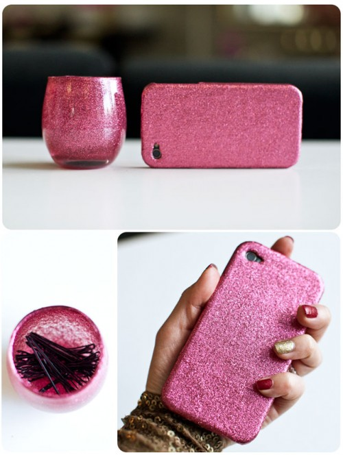 Chic DIY Glittered iPhone Case (via iamstyle-ish)