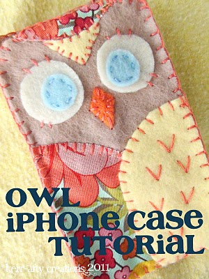 DIY Owl iPhone Case Tutorial (via make-handmade)