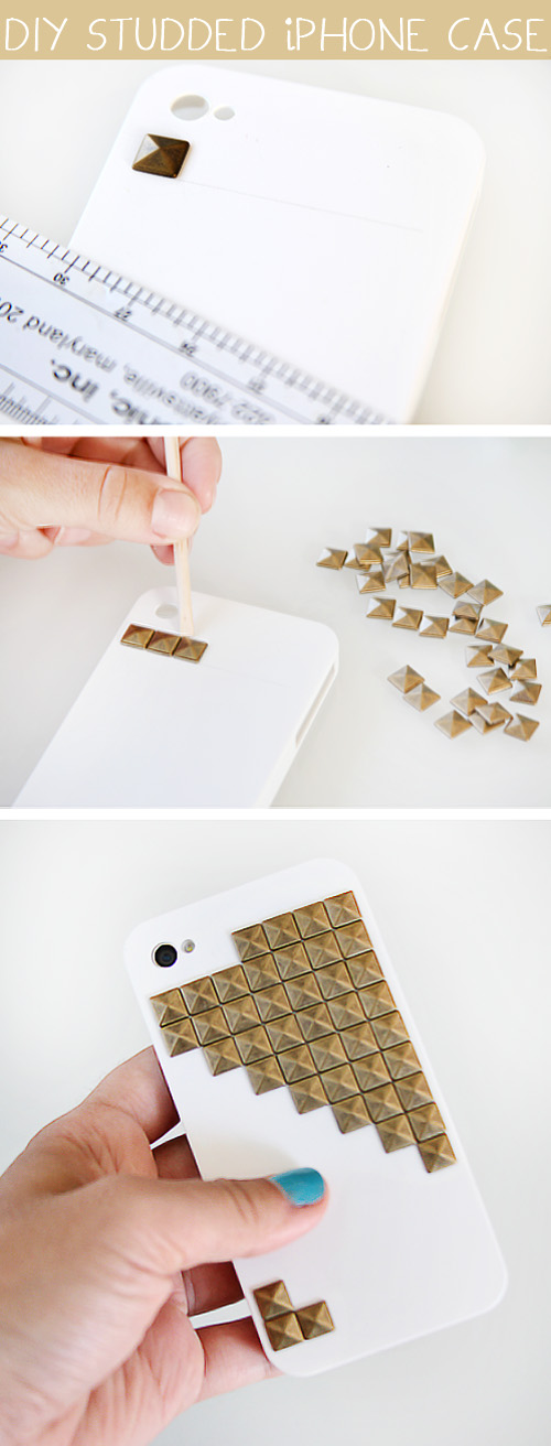 DIY Studded iPhone Case (via julieannart)