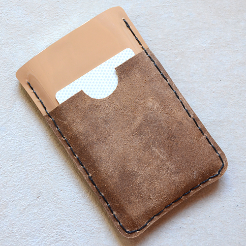 DIY iPhone Leather Wallet Case (via kojo-designs)