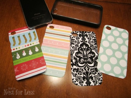 DIY Scrapbook Paper iPhone Covers (via howtonestforless)