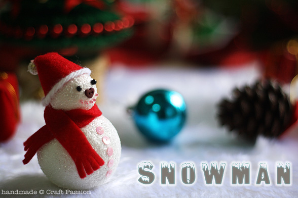 DIY Snowman Ornament From Polyfoam Balls