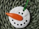 Homemade Salt Dough Snowman