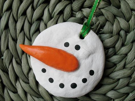 Homemade Salt Dough Snowman (via crafts)