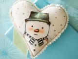 DIY Heart-Shape Snowman Ornament