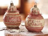 DIY Vintage Snowman Ornament