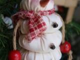 DIY Santa Snowman Ornament