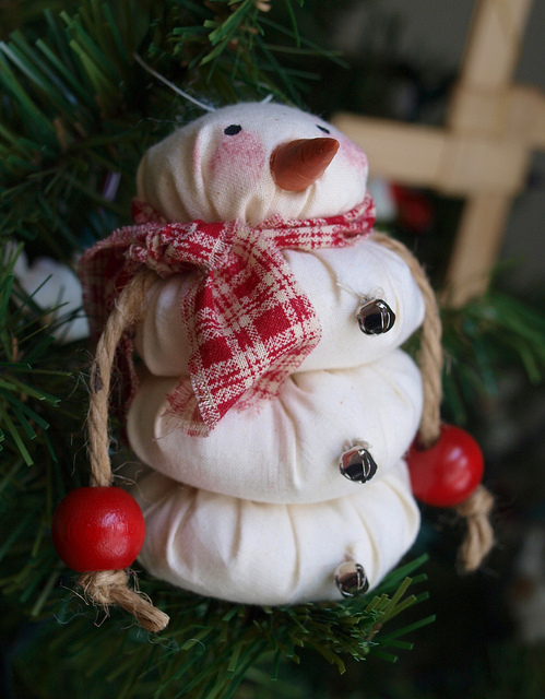 DIY Santa Snowman Ornament