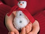 Homemade Pom-Pom Snowman