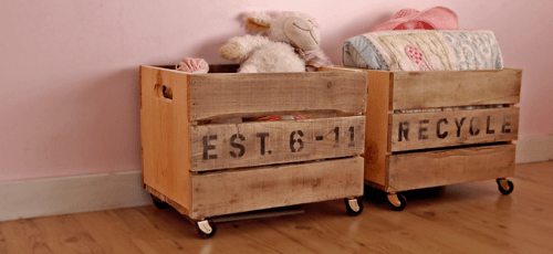 DIY Vintage Create Carts To Store Toys
