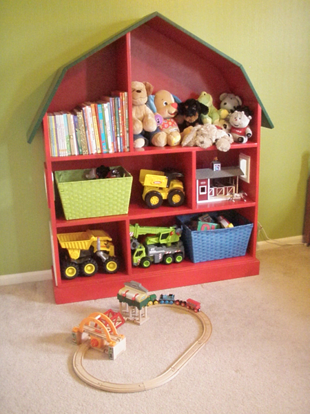 The cool thing about these cute doll houses is that they could also be used to store toys. (via emilysmusings)