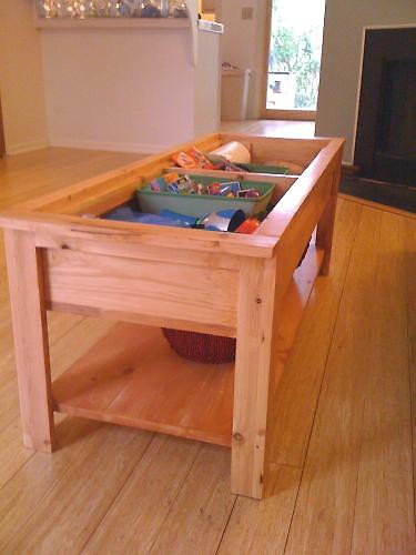 DIY Coffee Table With Hidden Toy Storage