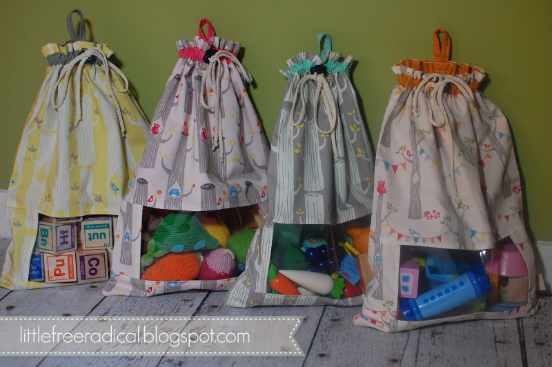 Picture of diy drawstring sacks for Cool diy storage ideas