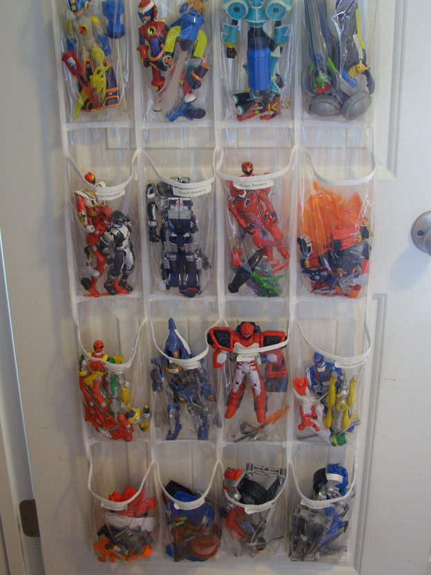 Toys in a shoe organizer shelterness - Homemade shoe storage ideas ...