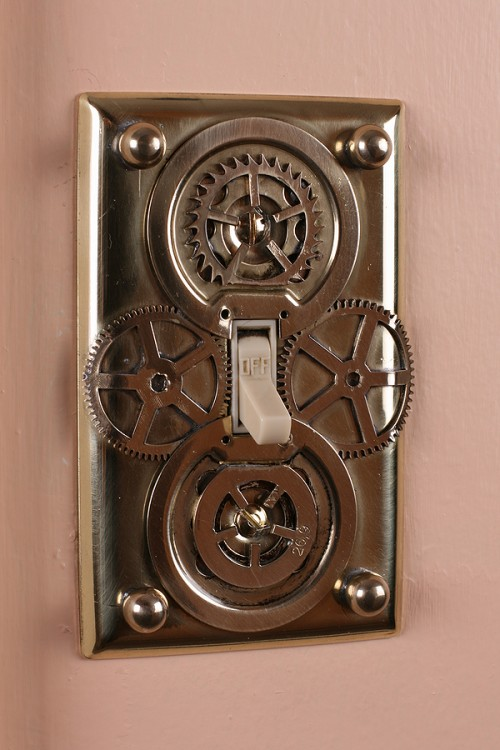 DIY Steampunk Light Switch Plates