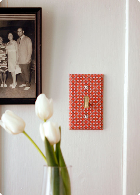 How To Decorate A Light Switch Cover (via designsponge)