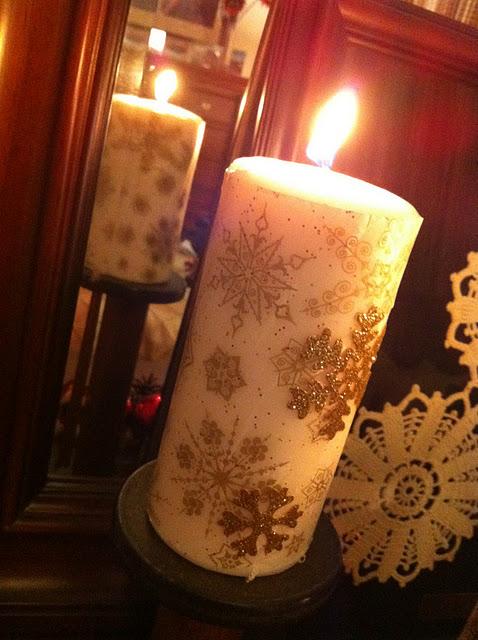 Tissue Paper Candles (via theivycottageblog)