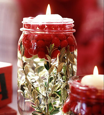 Illuminating Holiday Jars (via bhg)
