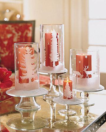Glittered Candleholders (via marthastewart)