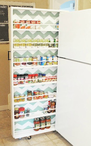 DIY Canned Food Organizer (via classyclutter)