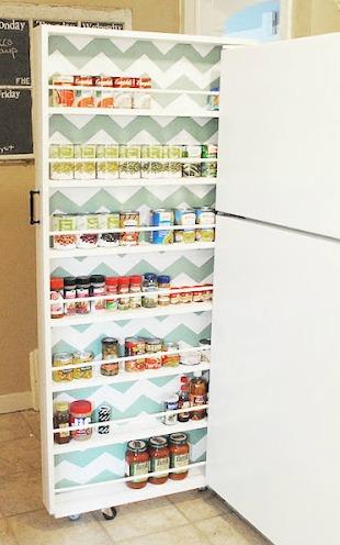 DIY Canned Food Organizer (via classyclutter)