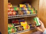 Closet Rack In A KItchen Cabinet
