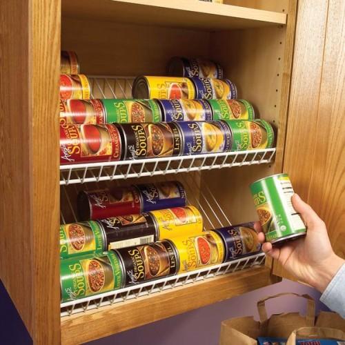 Closet Rack In A KItchen Cabinet (via lifehacker)