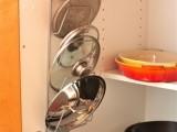 DIY Pot Lid Rack Inside Of A Cabinet