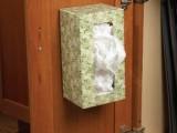 Plastic Bag Holder On A Cabinet Door