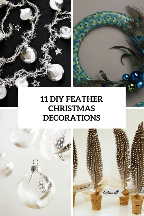 11 diy feather christmas decorations cover