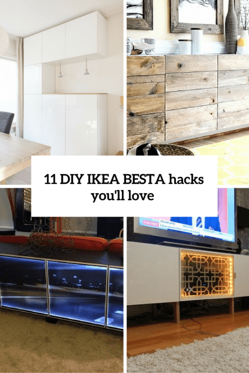 11 Super Creative DIY IKEA Besta Hacks You'll Like