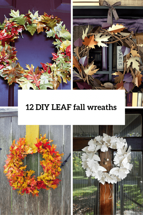 12 Bold And Eye-Catching DIY Leaf Wreaths For Fall Decor