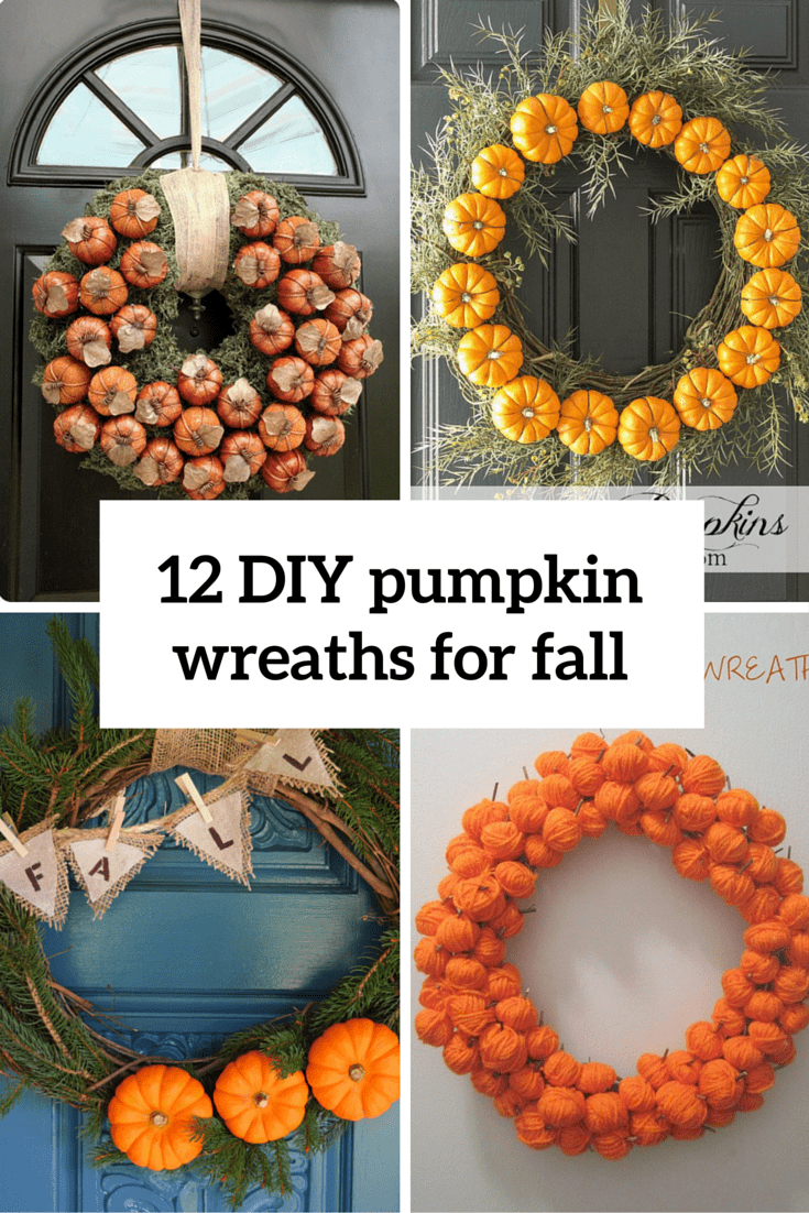 12 diy pumpkin wreaths for fall cover
