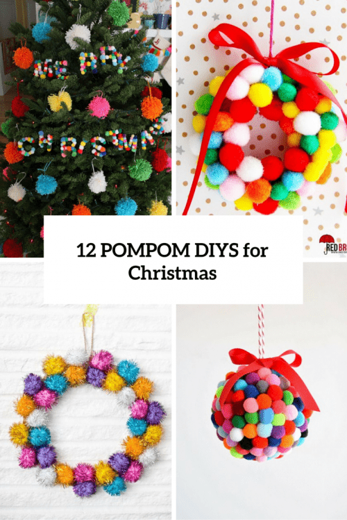 12 soft and cozy diy pompom christmas decorations for Decorations noel a fabriquer