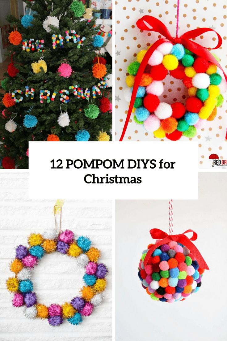 12 pompom diys for christmas cover