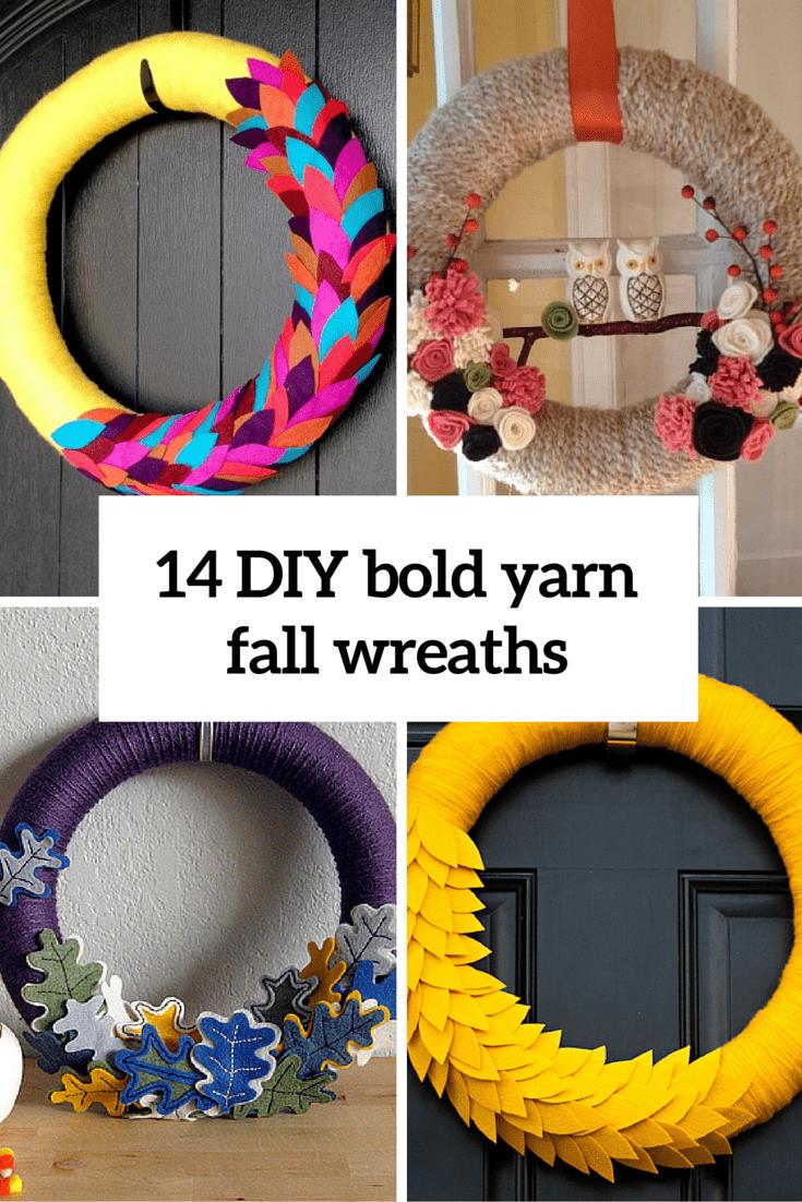 14 bold yarn fall wreaths cover